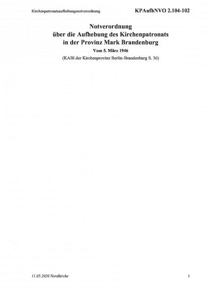 2.104-102 Kirchenpatronatsaufhebungsnotverordnung