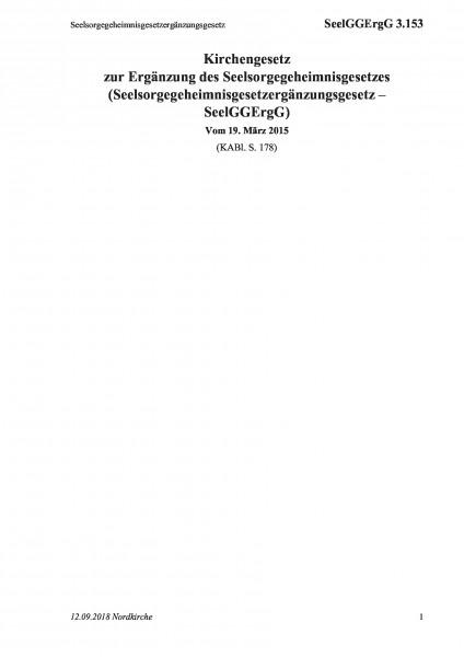 3.153 Seelsorgegeheimnisgesetzergänzungsgesetz