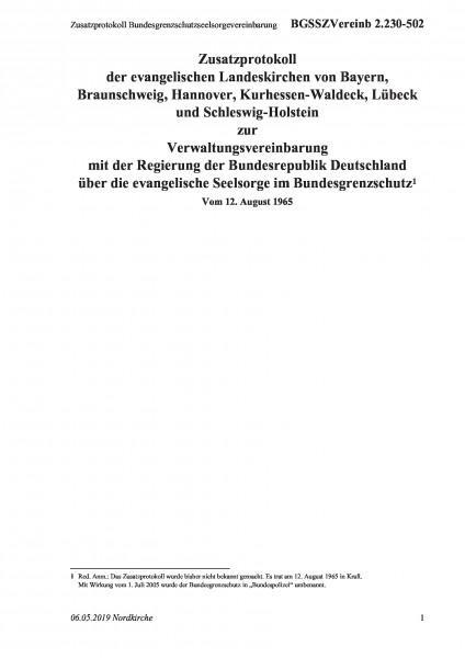 2.230-502 Zusatzprotokoll Bundesgrenzschutzseelsorgevereinbarung
