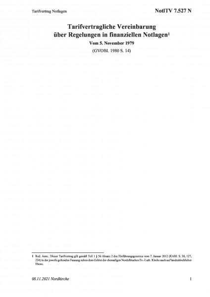 7.527 N Tarifvertrag Notlagen