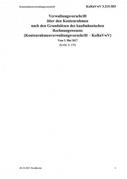5.215-503 Kontenrahmenverwaltungsvorschrift