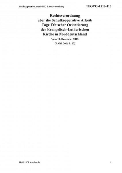 4.210-110 Schulkooperative Arbeit/TEO-Rechtsverordnung