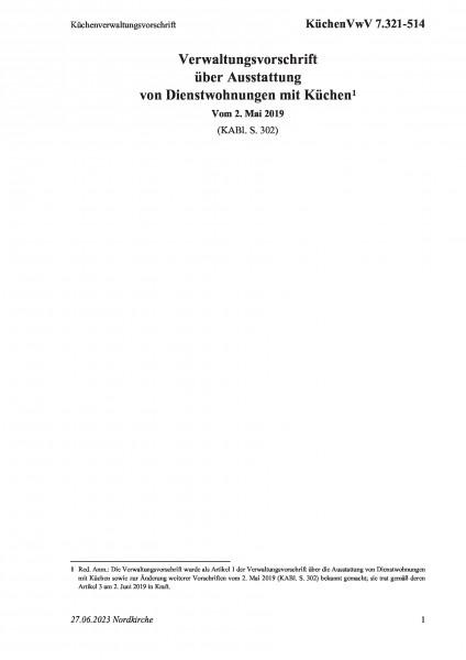7.321-514 Küchenverwaltungsvorschrift