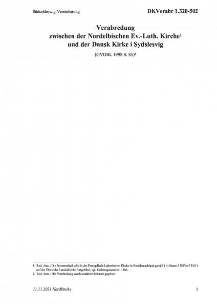 1.320-502 Dansk Kirke-Verabredung