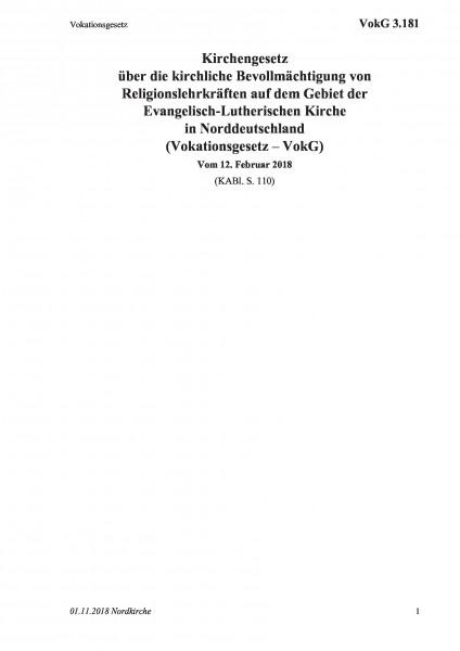 3.181 Vokationsgesetz