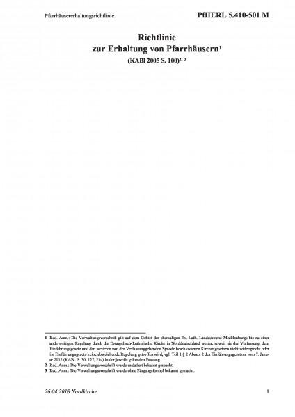 5.410-501 M Pfarrhäusererhaltungsrichtlinie