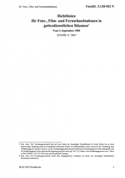 3.128-502 N RL Foto-, Film- und Fernsehaufnahmen