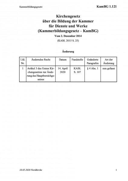 1.121 Kammerbildungsgesetz