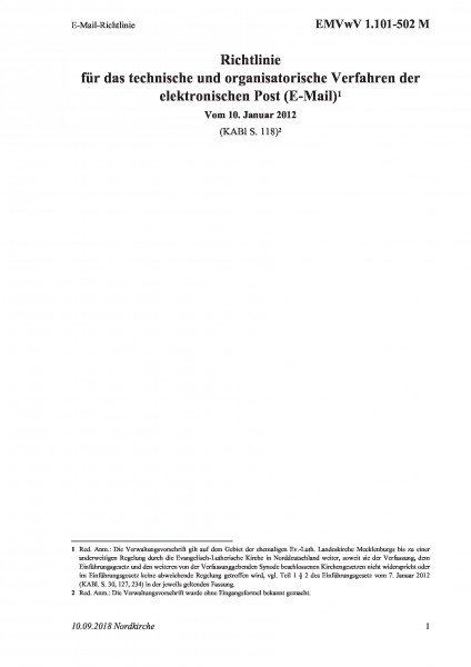 1.101-502 M E-Mail-Richtlinie