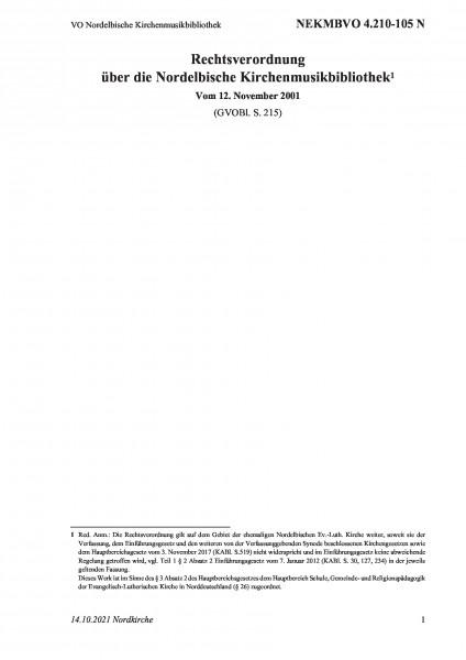 4.210-105 N VO Nordelbische Kirchenmusikbibliothek