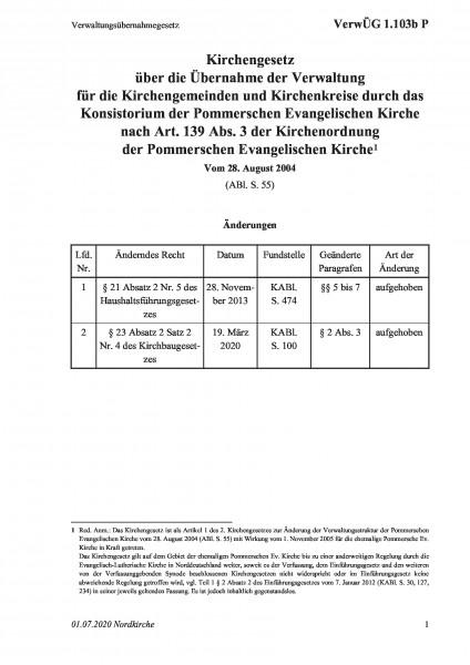 1.103b P Verwaltungsübernahmegesetz