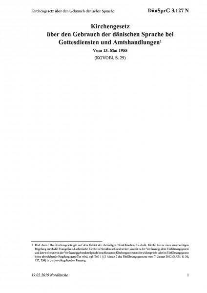 3.127 N Kirchengesetz über den Gebrauch dänischer Sprache