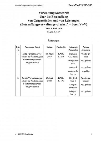 5.215-505 Beschaffungsverwaltungsvorschrift