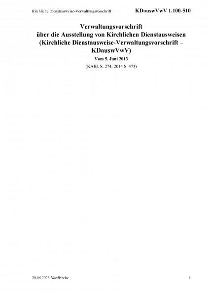 1.100-510 Kirchliche Dienstausweise-Verwaltungsvorschrift