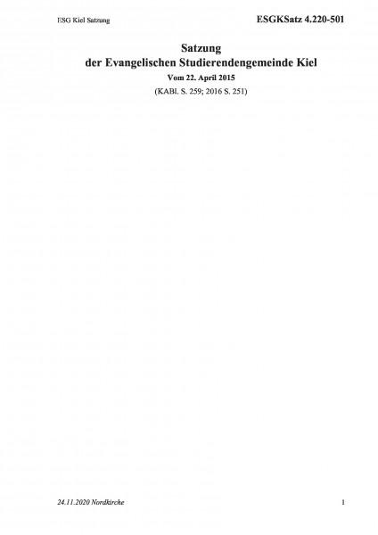4.220-501 ESG Kiel Satzung
