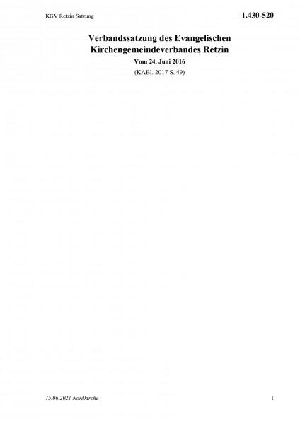 1.430-520 KGV Retzin Satzung