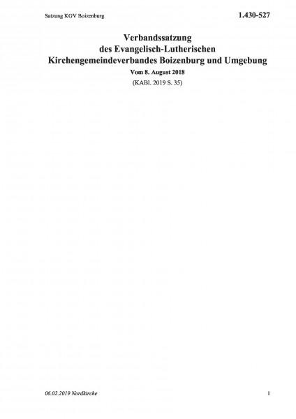 1.430-527 Satzung KGV Boizenburg