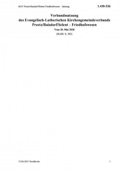 1.430-526 KGV Preetz/Raisdorf/Selent Friedhofswesen – Satzung