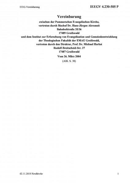 4.230-505 P IEEG-Vereinbarung