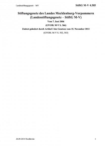 4.505 Landesstiftungsgesetz – MV