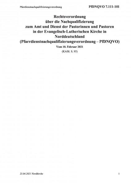 7.111-101 Pfarrdienstnachqualifizierungsverordnung