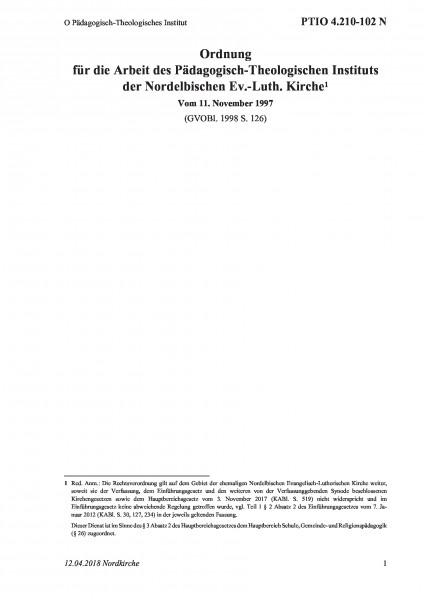 4.210-102 N O Pädagogisch-Theologisches Institut
