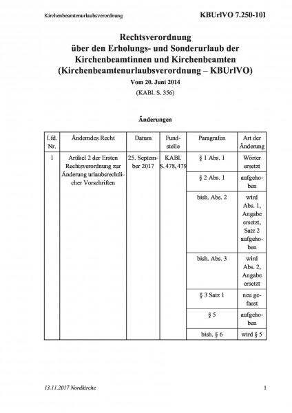 7.250-101 Kirchenbeamtenurlaubsverordnung