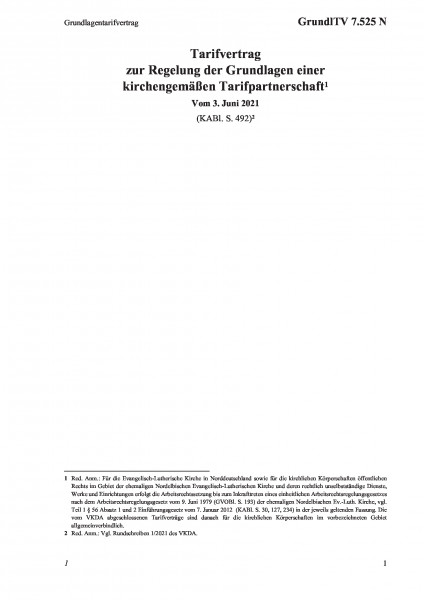 7.525 N Grundlagentarifvertrag