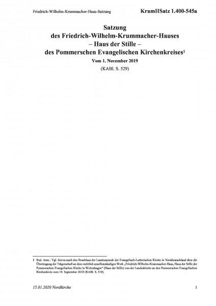 1.400-545a Friedrich-Wilhelm-Krummacher-Haus-Satzung
