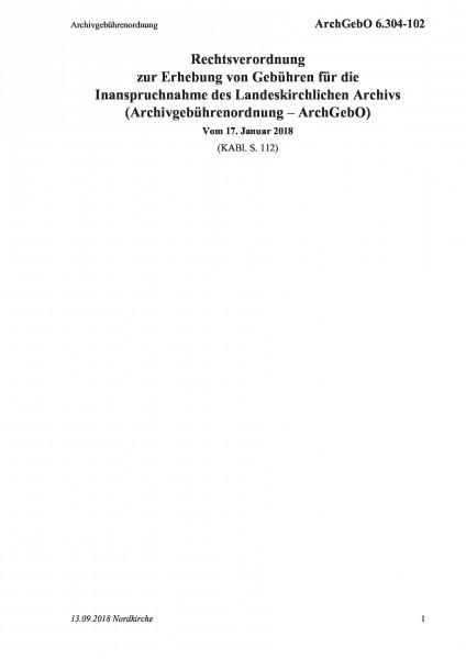 6.304-102 Archivgebührenordnung