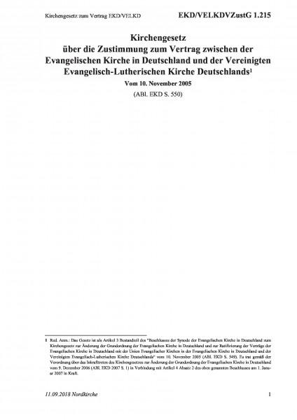 1.215 Kirchengesetz zum Vertrag EKD/VELKD