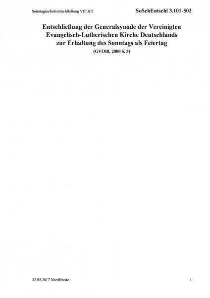 3.101-502 Sonntagsschutzentschließung VELKD