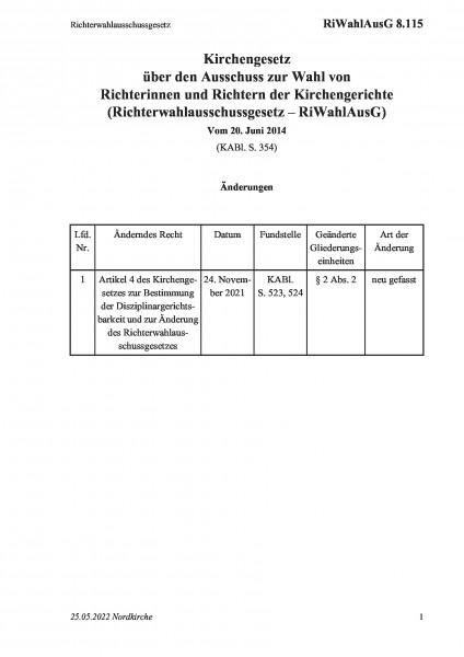 8.115 Richterwahlausschussgesetz