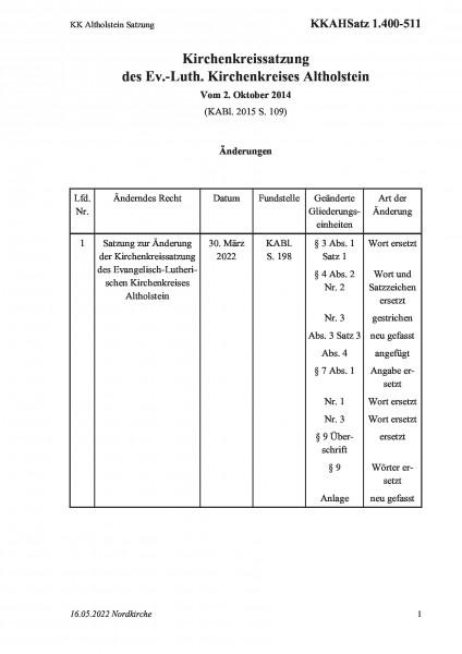 1.400-511 KK Altholstein Satzung