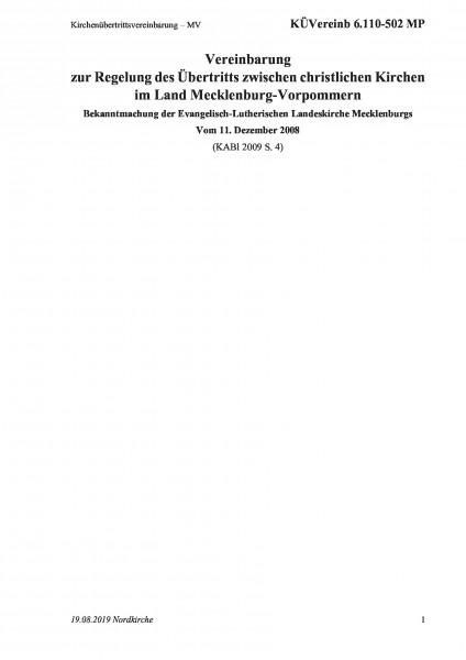 6.110-502 MP Kirchenübertrittsvereinbarung – MV