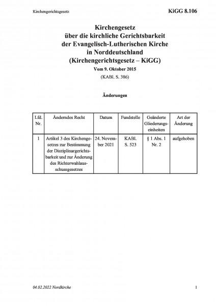 8.106 Kirchengerichtsgesetz