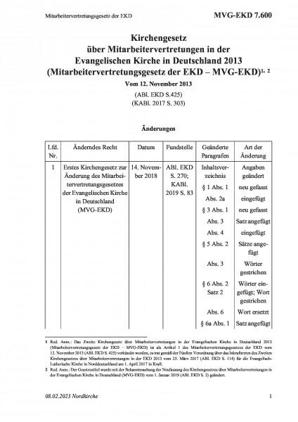 7.600 Mitarbeitervertretungsgesetz der EKD