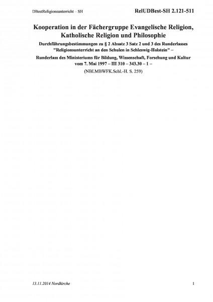 2.121-511 DBestReligionsunterricht – SH