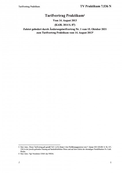 7.536 N Tarifvertrag Praktikum