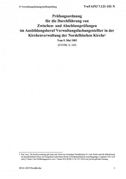 7.121-101 N O Verwaltungsfachangestelltenprüfung