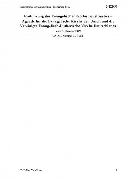 3.120 N Evangelisches Gottesdienstbuch – Einführung NEK