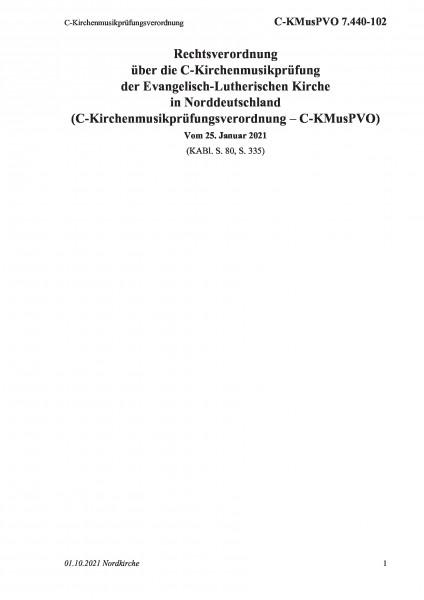 7.440-102 C-Kirchenmusikprüfungsverordnung