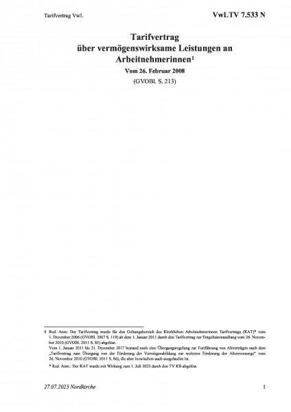 7.533 N Tarifvertrag VwL