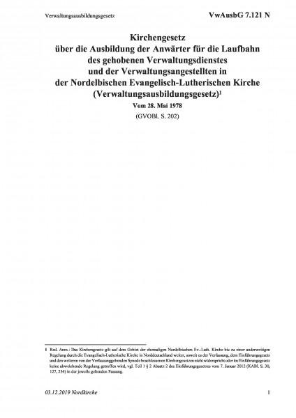 7.121 N Verwaltungsausbildungsgesetz