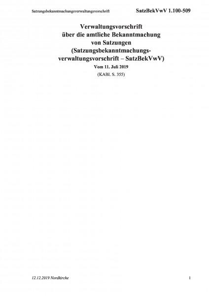 1.100-509 Satzungsbekanntmachungsverwaltungsvorschrift