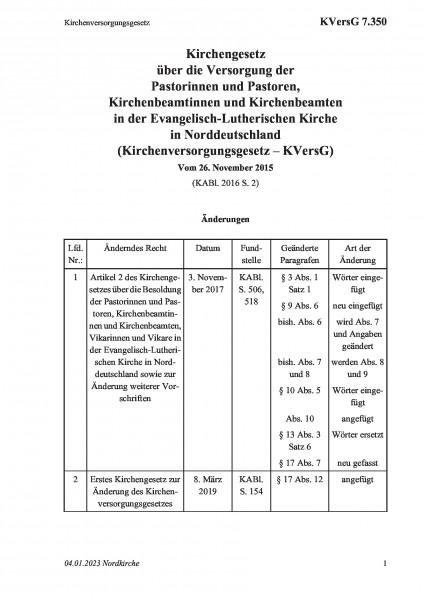 7.350 Kirchenversorgungsgesetz