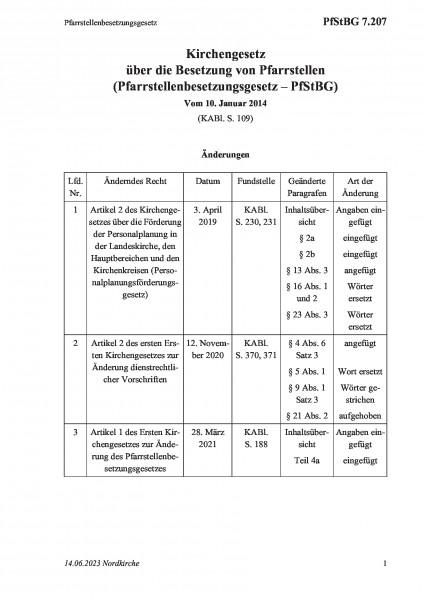 7.207 Pfarrstellenbesetzungsgesetz