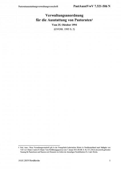 7.321-506 N Pastoratsausstattungsverwaltungsvorschrift