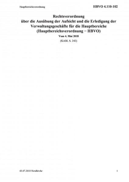 4.110-102 Hauptbereichsverordnung