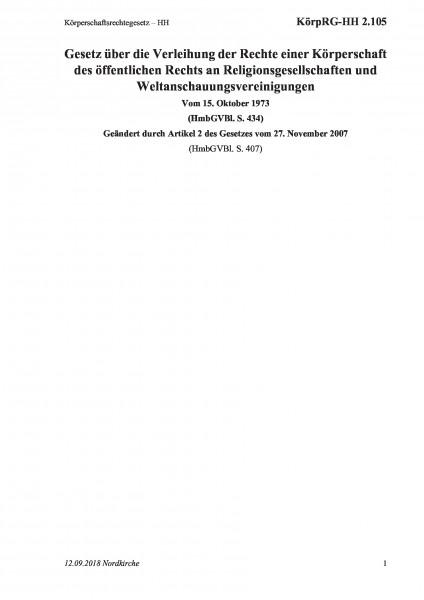 2.105 Körperschaftsrechtegesetz – HH
